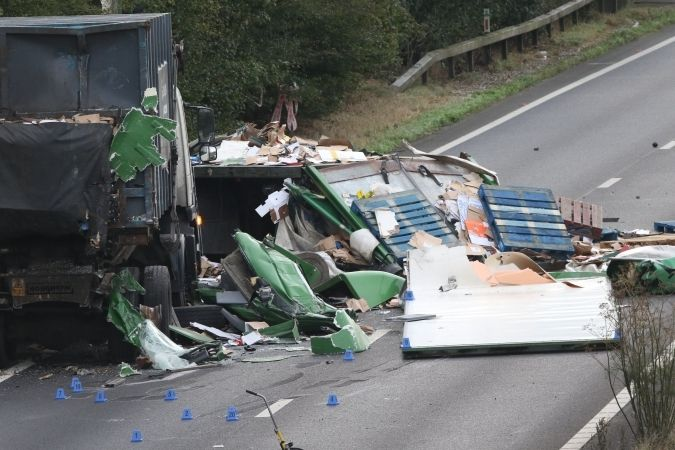 lorry driver killed after two lorries collide on a27 chichester 3