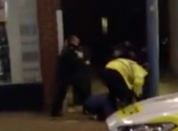 calls for officers to be suspended after man beaten in newhaven street
