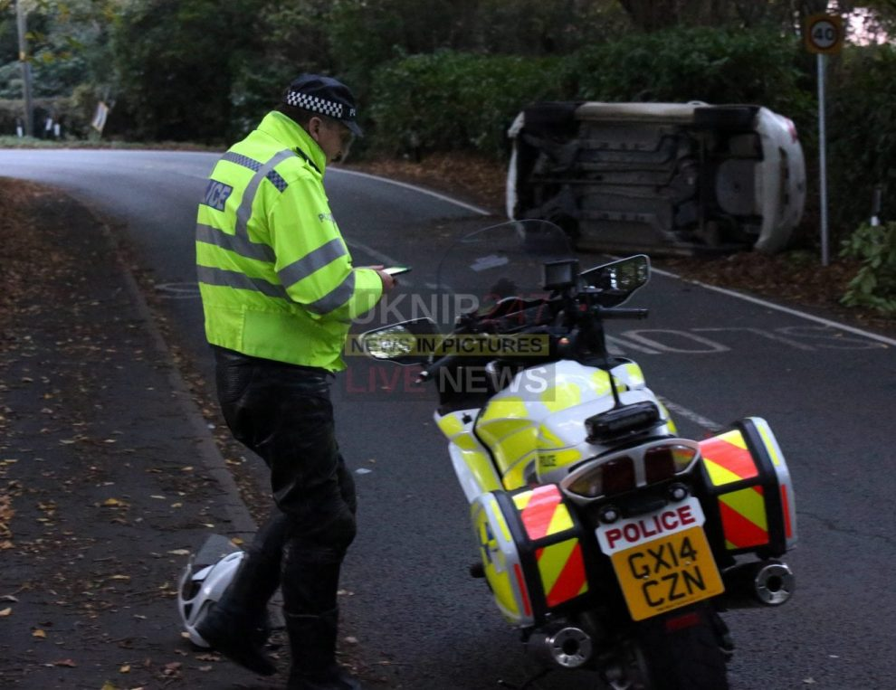 , Woman Rushed to Hospital after Car overturns in Rudgwick, Sussex999.co.uk