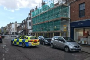 police seal off chichester street