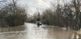 west sussex fire crews rescue foolish drivers as river arun burst its banks
