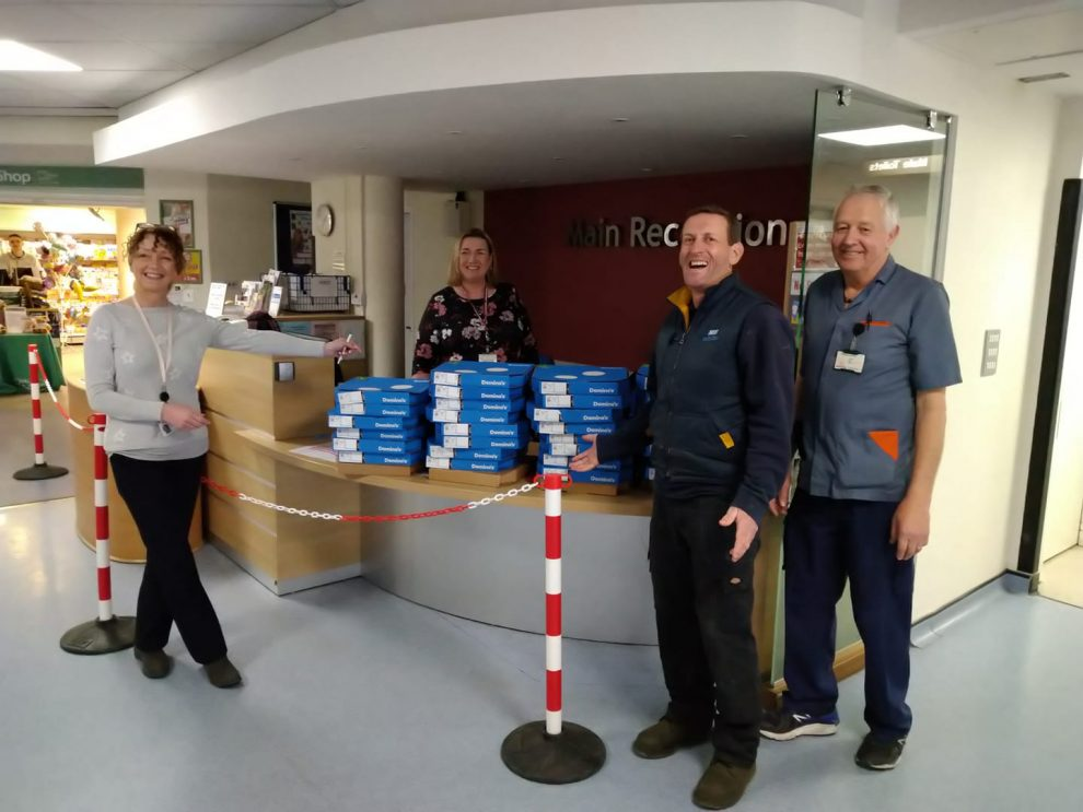 Domino's lunchtime surprise for all at Haywards Heath Hospital