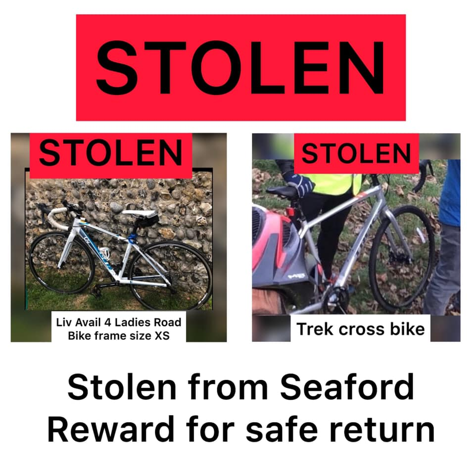 Bikes and Turbos stolen from Seaford Home