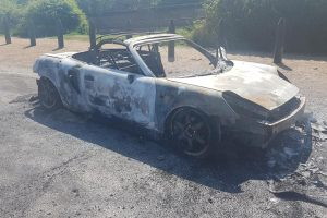 Car stolen and burnt out in Newhaven