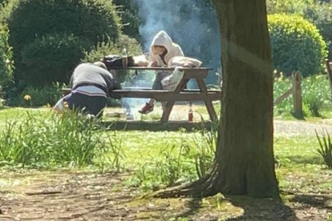 Not the time for a barbecue in the park