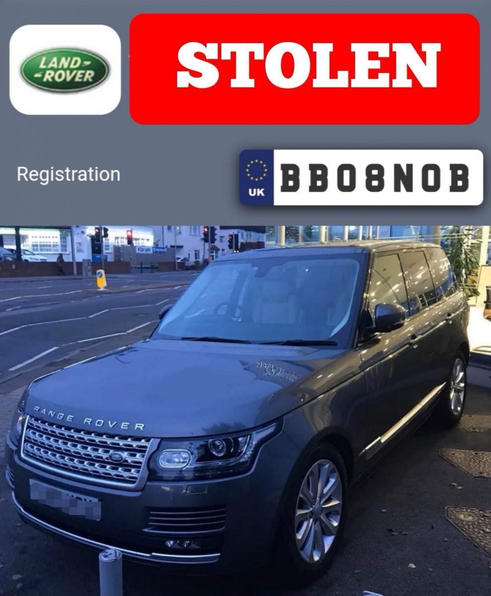 Range Rover stolen this afternoon in Hove