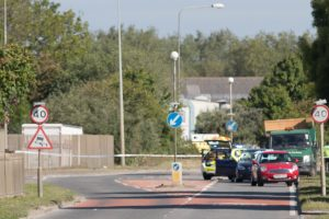 A26 Newhaven closed after a collision