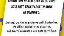 Brighton Naked Bike Ride Postponed