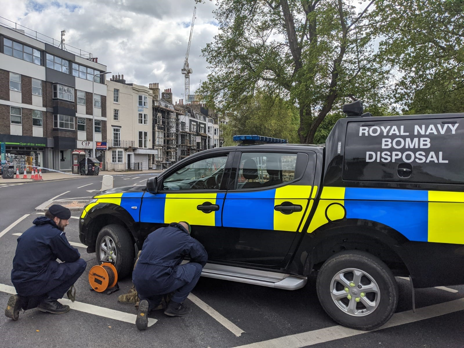 Closer Look at a 2-inch mortar bomb unearthed in Brighton yesterday
