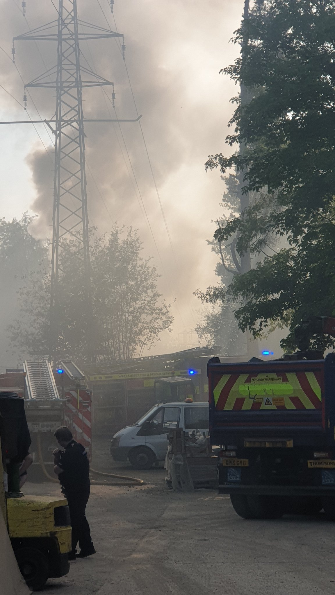 Fire crew tackle blaze in Crawley Down