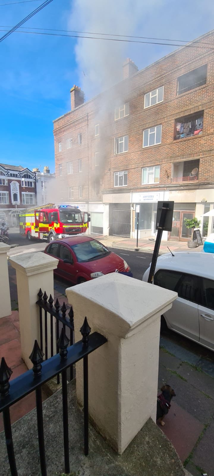 Kitchen Blaze extensively damages Brighton Flat This Morning