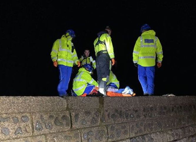 Man with spinal injuries rushed to hospital  after wall fall in Brighton