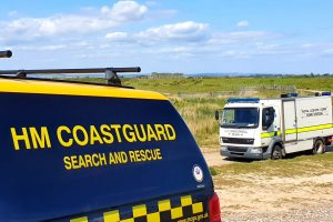 Selsey Coastguard Team paged to ordnance at Medmerry Beach.