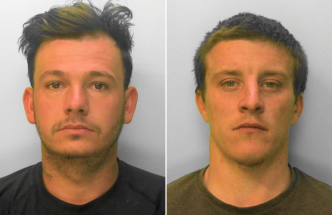 A swift policing response has led to two men being convicted for stealing from pallets outside a Chichester DIY store