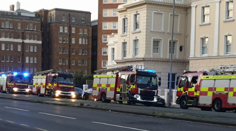 East Sussex fire crews called to smell of burning at property on Hove seafront