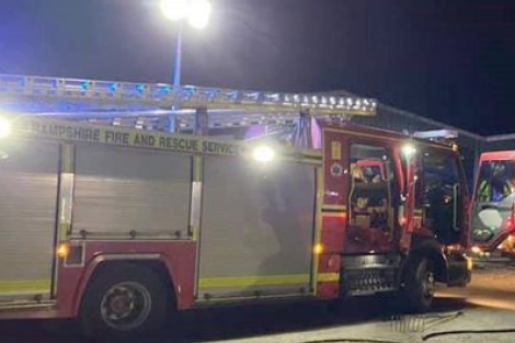 Fire crews from Sussex and Hampshire have been called to a blaze in Southbourne