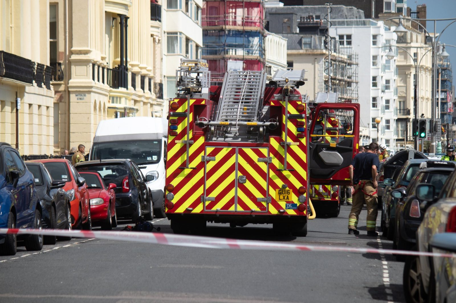 Fire crews rush to Blaze at Brunswich Terrace in Brighton