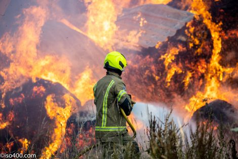 Fire rips through a large barn in rural Sussex