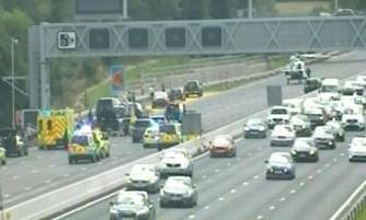 M23 Southbound Closed due an RTC involving 3 cars and a motorbike