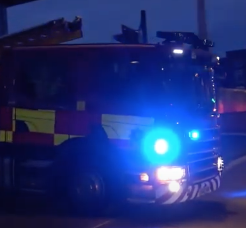 East Sussex Fire and Rescue Battle Blaze in Eastbounre