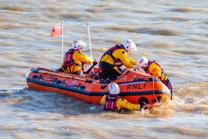 Eastbourne lifeboat Called to assist distressed kayakers