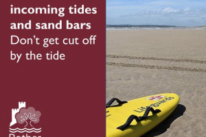 Beach warned issued over High tide at Camber Sands