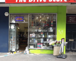 A man is reported to have entered The Drive Store, in Church Road, and demanded cash