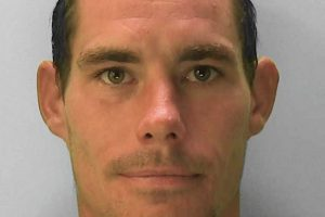 A prolific burglar was caught on camera stealing cash, tools and building materials from a house in Eastbourne
