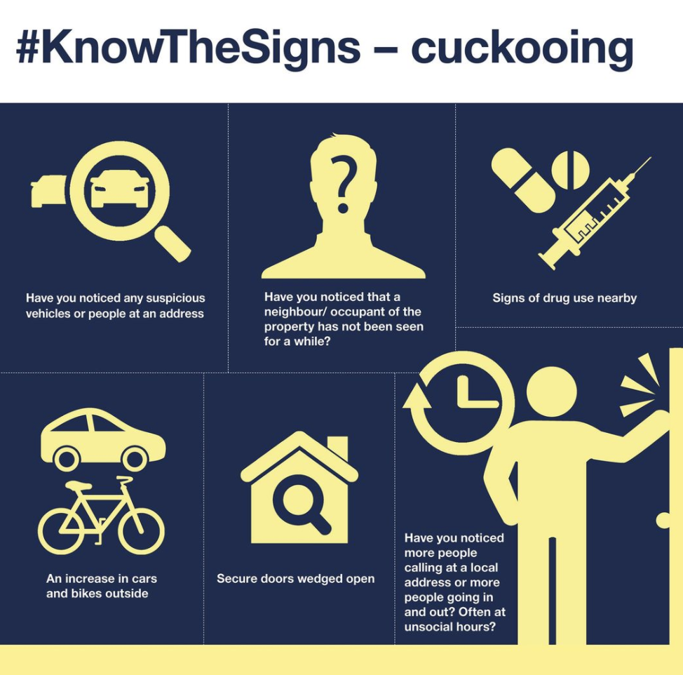 """""""Cuckooing"""" is where a drug dealer befriends someone vulnerable and turns their home into a drug den"""