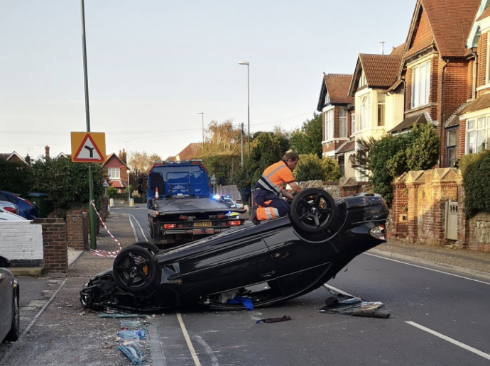 Driver taken to hospital after Five vehicle collision in Littlehampton