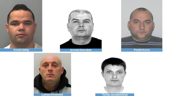 Five  foreign nationals all wanted on warrant for Extradition from the UK