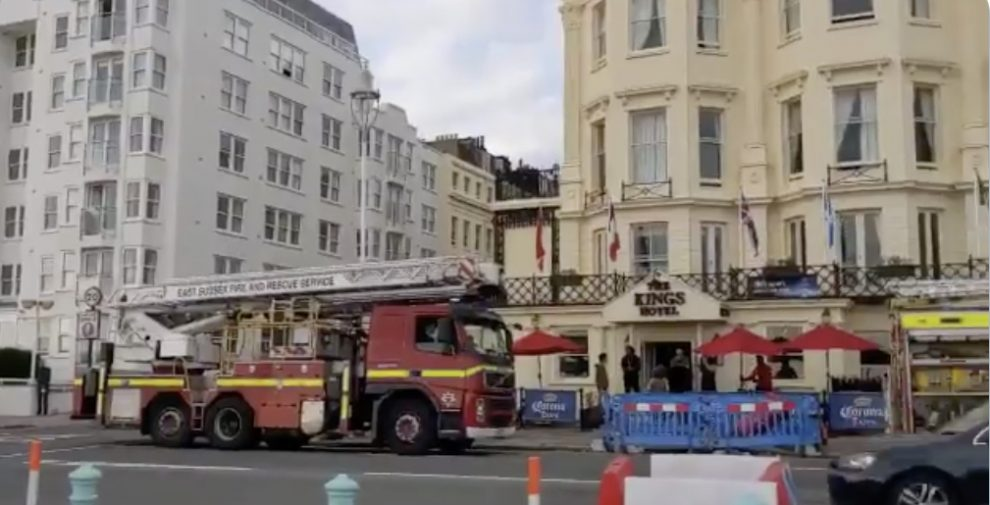 One person taken to hospital after Brighton hotel blaze