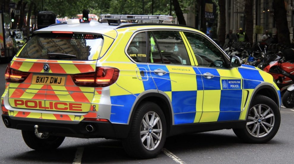 Police are appealing for witnesses after a car crashed into a brick wall in Crawley, resulting in serious injuries for the two occupants