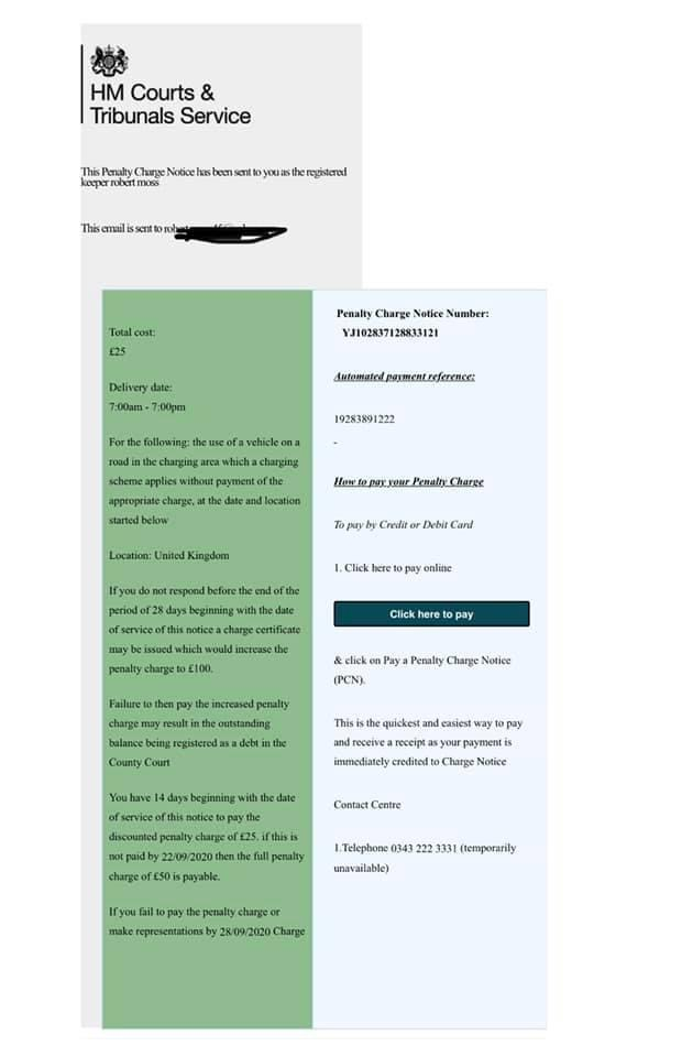 Scam HM Courts email being sent to unsuspecting recipients