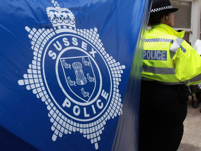 Two men were arrested after police pursued a vehicle in Brighton on Wednesday night