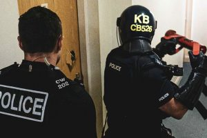 Two people were arrested, and crack cocaine and around £6000 in cash were seized, together with some £10,000 worth of designer clothing