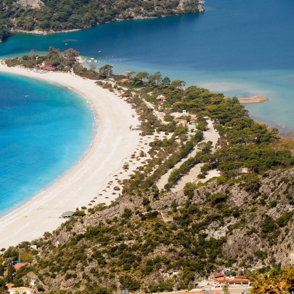 Beach of blue lagoon Oludeniz Turkey