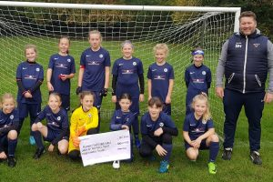 Sussex Police has donated £300 to Pevensey & Westham Girls' Under 10s football team